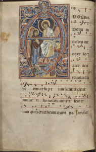 Manchester, John Rylands Library, Latin Ms. 74, fol. 2v Antiphoner, Northern Italy, 13th century