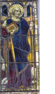 Fursey window Burgh Castle Church Norfolk (image from the Fursey Pilgrims website)